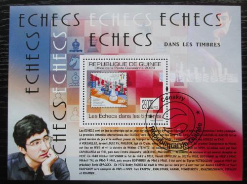 Poštovní známka Guinea 2009 Šachy na známkách Mi# Block 1774 Kat 10€