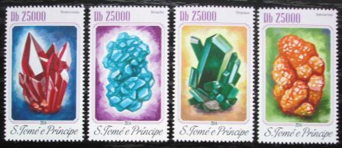 Poštovní známky Svatý Tomáš 2014 Minerály Mi# 5780-83 Kat 10€
