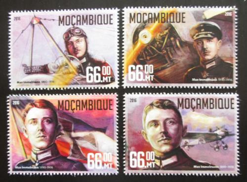 Poštovní známky Mosambik 2016 Max Immelmann, váleèný pilot Mi# 8514-17 Kat 15€