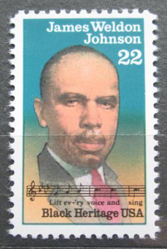 Poštovní známka USA 1988 James Weldon Johnson, spisovatel Mi# 1964