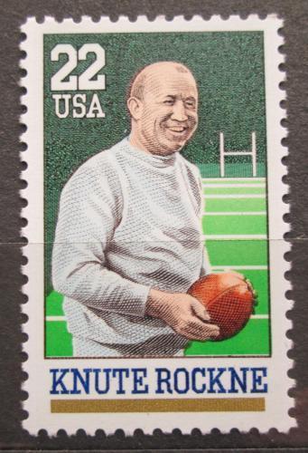 Poštovní známka USA 1988 Knute Rockne, americký fotbal Mi# 1972
