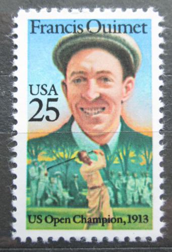 Poštovní známka USA 1988 Francis Quimet, golf Mi# 1983