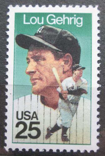 Poštovní známka USA 1989 Henry Louis Gehrig, baseball Mi# 2043