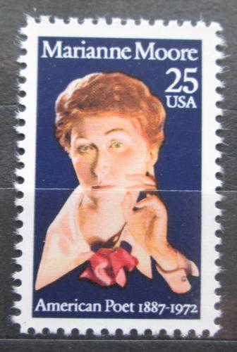 Poštovní známka USA 1990 Marianne Moore, spisovatelka Mi# 2083