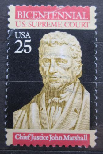 Poštovní známka USA 1990 John Marshall, politik Mi# 2075