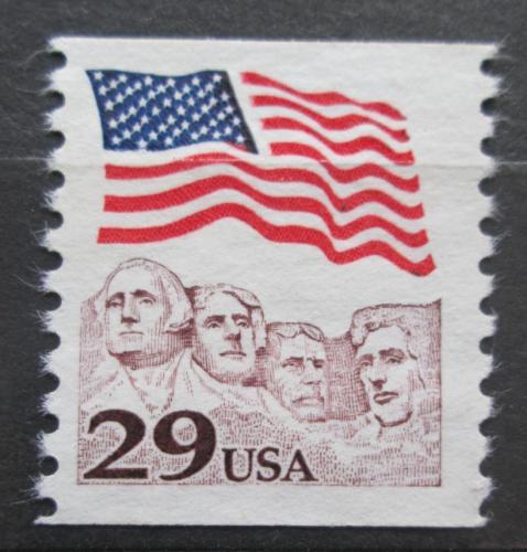 Poštovní známka USA 1991 Státní vlajka a Mount Rushmore Mi# 2123 II