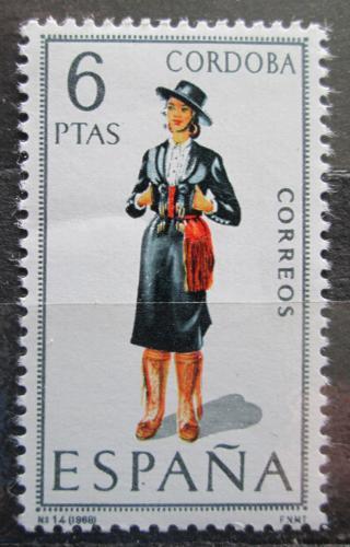 Poštovní známka Španìlsko 1968 Lidový kroj Córdoba Mi# 1738