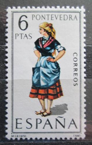 Poštovní známka Španìlsko 1970 Lidový kroj Pontevedra Mi# 1845