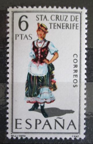 Poštovní známka Španìlsko 1970 Lidový kroj Santa Cruz de Tenerife Mi# 1862