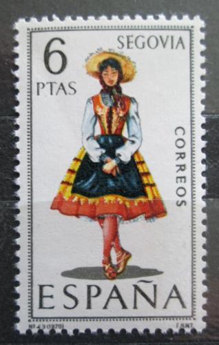 Poštovní známka Španìlsko 1970 Lidový kroj Segovia Mi# 1871
