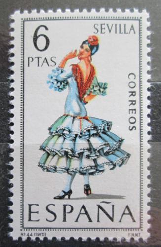 Poštovní známka Španìlsko 1970 Lidový kroj Sevilla Mi# 1878