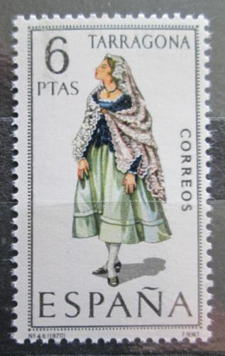 Poštovní známka Španìlsko 1970 Lidový kroj Tarragona Mi# 1888