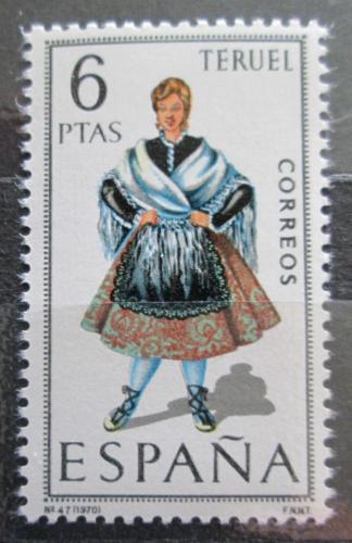 Poštovní známka Španìlsko 1970 Lidový kroj Teruel Mi# 1901