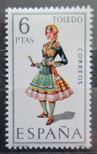 Poštovní známka Španìlsko 1970 Lidový kroj Toledo Mi# 1902