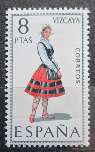 Poštovní známka Španìlsko 1971 Lidový kroj Vizcaya Mi# 1911