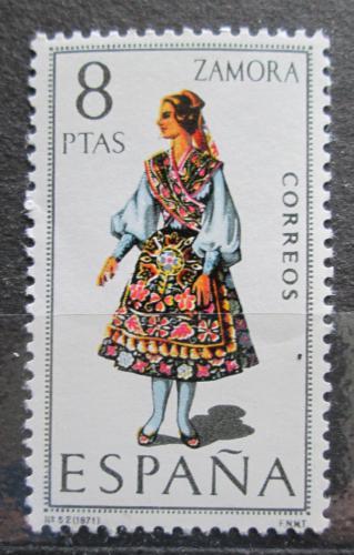 Poštovní známka Španìlsko 1971 Lidový kroj Zamora Mi# 1920