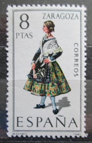 Poštovní známka Španìlsko 1971 Lidový kroj Zaragoza Mi# 1927