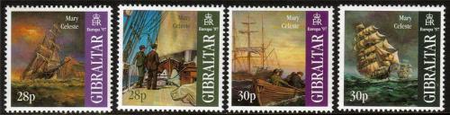 Poštovní známky Gibraltar 1997 Evropa CEPT, plachetnice Mi# 783-86 Kat 6€