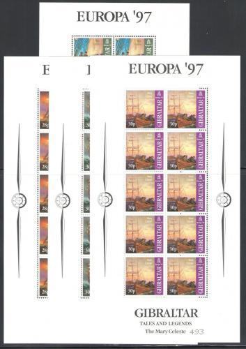 Poštovní známky Gibraltar 1997 Evropa CEPT, plachetnice Mi# 783-86 Bogen Kat 60€