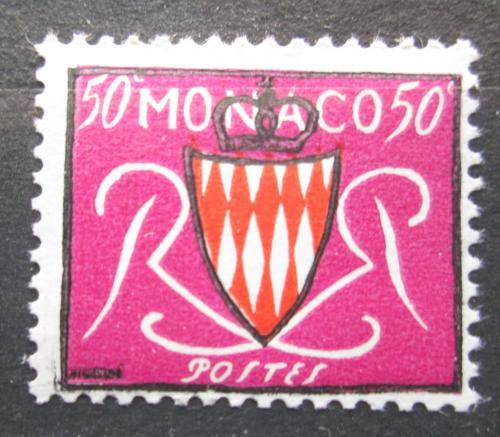 Poštovní známka Monako 1954 Státní znak Mi# 479
