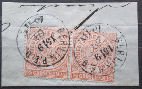 Poštovní známky Severonìmecká konfederace 1869 Nominál pár Mi# 15 Kat 11€