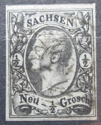 Poštovní známka Sasko 1855 Král Jan I. Saský Mi# 8 Kat 8€