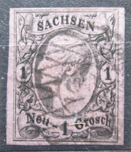 Poštovní známka Sasko 1855 Král Jan I. Saský Mi# 9 Kat 8€