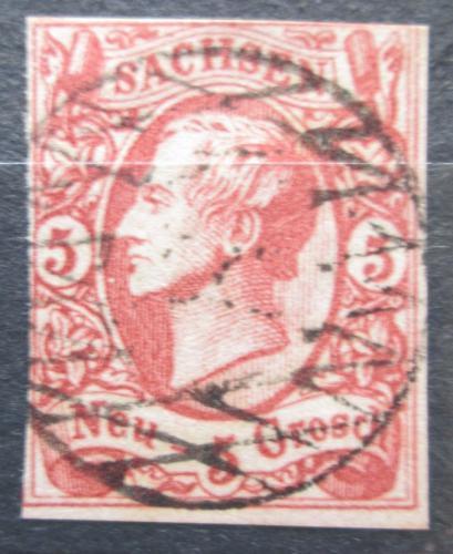 Poštovní známka Sasko 1856 Král Jan I. Saský Mi# 12 Kat 80€