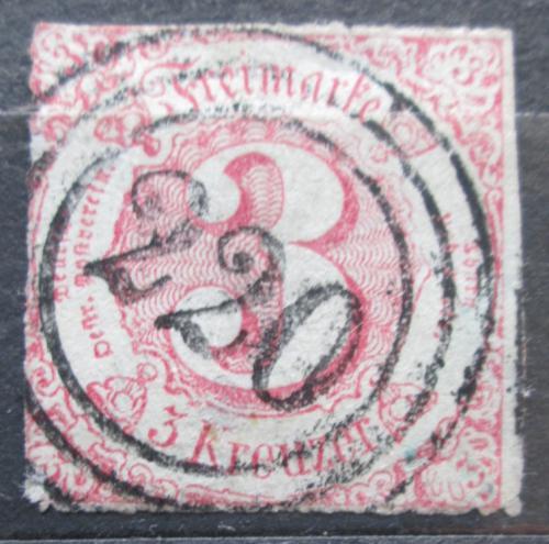 Poštovní známka Thurn a Taxis 1862 Èíselná hodnota Mi# 32 Kat 18€