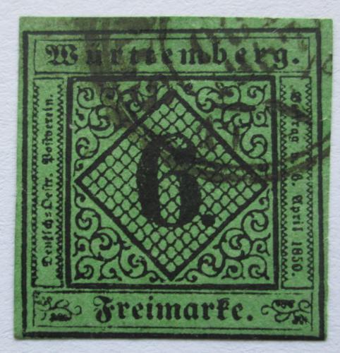 Poštovní známka Württembersko 1851 Nominál Mi# 3 Kat 40€
