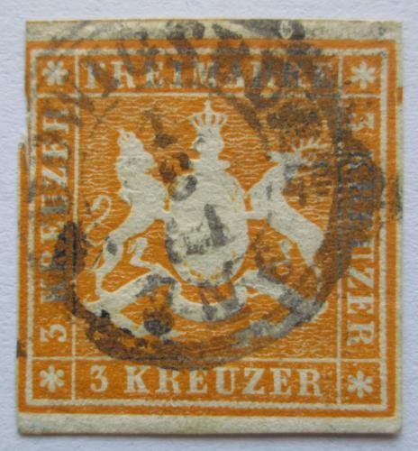 Poštovní známka Württembersko 1857 Státní znak Mi# 7 Kat 16€