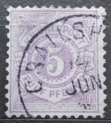 Poštovní známka Württembersko 1875 Nominální hodnota Mi# 45