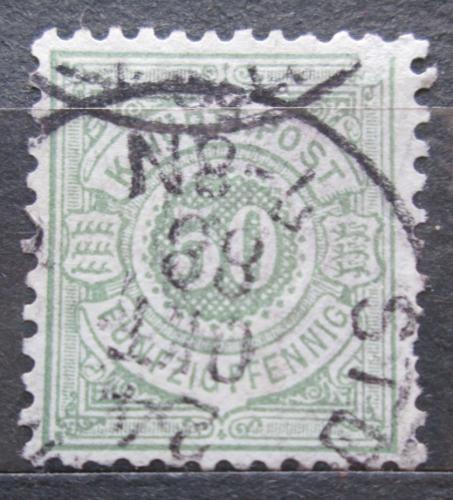 Poštovní známka Württembersko 1878 Nominální hodnota Mi# 51 Kat 7€