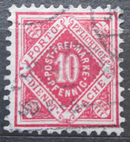 Poštovní známka Württembersko 1875 Nominální hodnota, úøední Mi# 102