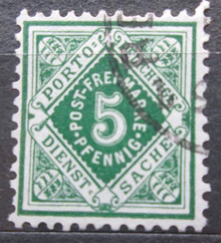 Poštovní známka Württembersko 1890 Nominální hodnota, úøední Mi# 103