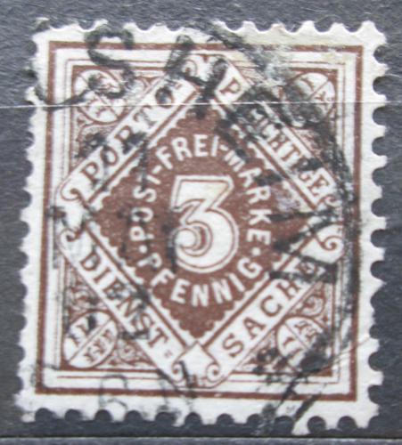 Poštovní známka Württembersko 1896 Nominální hodnota, úøední Mi# 105