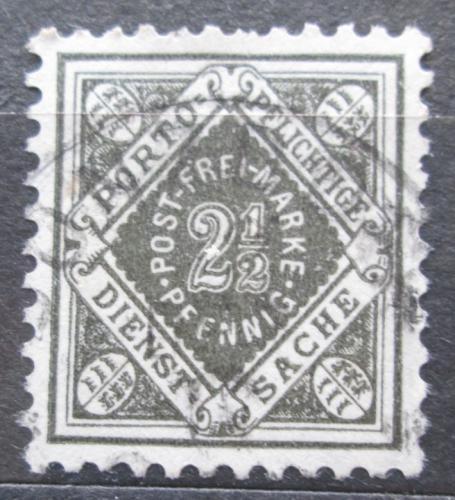 Poštovní známka Württembersko 1916 Nominální hodnota, úøední Mi# 119