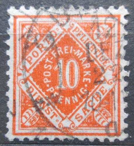 Poštovní známka Württembersko 1921 Nominální hodnota, úøední Mi# 150