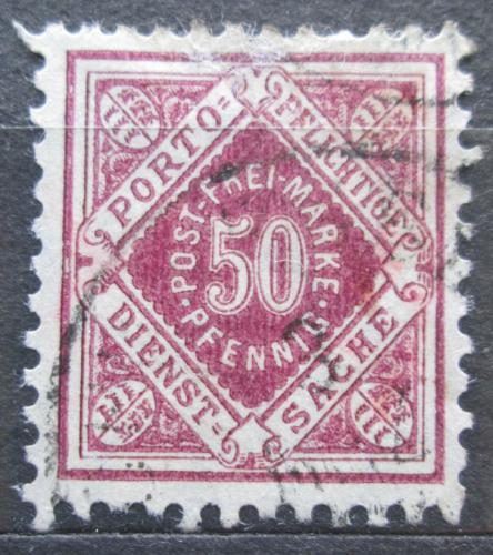 Poštovní známka Württembersko 1921 Nominální hodnota, úøední Mi# 154