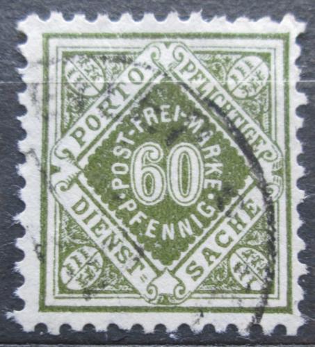 Poštovní známka Württembersko 1921 Nominální hodnota, úøední Mi# 155