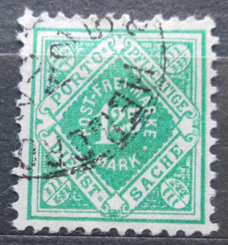 Poštovní známka Württembersko 1921 Nominální hodnota, úøední Mi# 156
