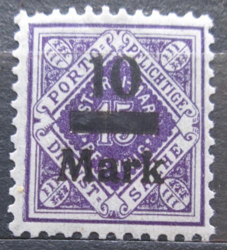 Poštovní známka Württembersko 1922 Nominální hodnota pøetisk, úøední Mi# 160
