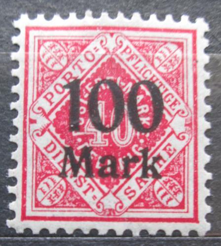 Poštovní známka Württembersko 1923 Nominální hodnota pøetisk, úøední Mi# 167