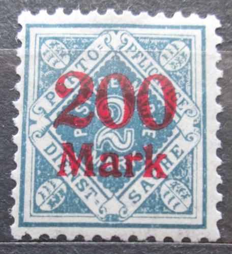 Poštovní známka Württembersko 1923 Nominální hodnota pøetisk, úøední Mi# 168