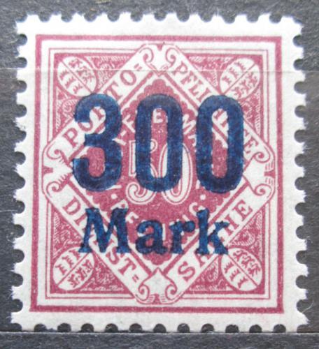 Poštovní známka Württembersko 1923 Nominální hodnota pøetisk, úøední Mi# 169
