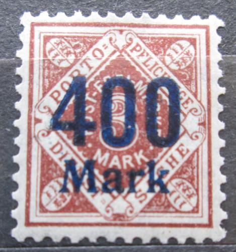 Poštovní známka Württembersko 1923 Nominální hodnota pøetisk, úøední Mi# 170