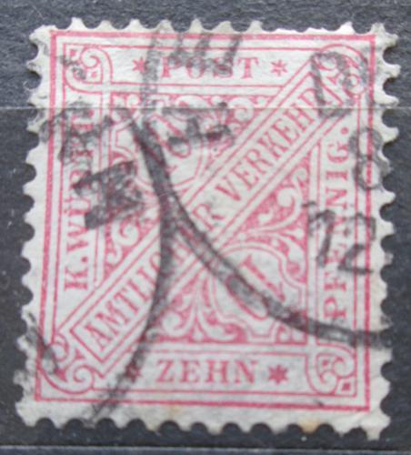 Poštovní známka Württembersko 1881 Nominální hodnota, úøední Mi# 203