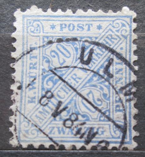 Poštovní známka Württembersko 1881 Nominální hodnota, úøední Mi# 204