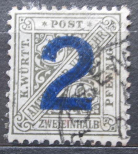 Poštovní známka Württembersko 1919 Nominální hodnota, úøední Mi# 257 Kat 8€