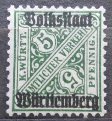 Poštovní známka Württembersko 1919 Nominální hodnota, úøední Mi# 260